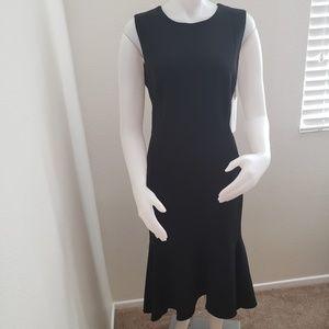 Calvin Klien sleeveless high low flounce hem dress